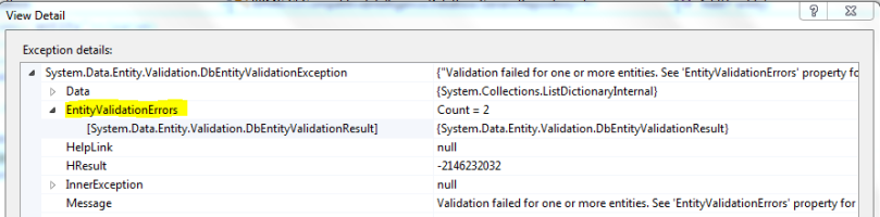System.Data.Entity.Validation.DbEntityValidationException2